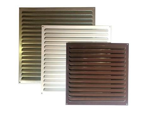 Решетка металлическая, коричневая 500х500мм 5050РМк