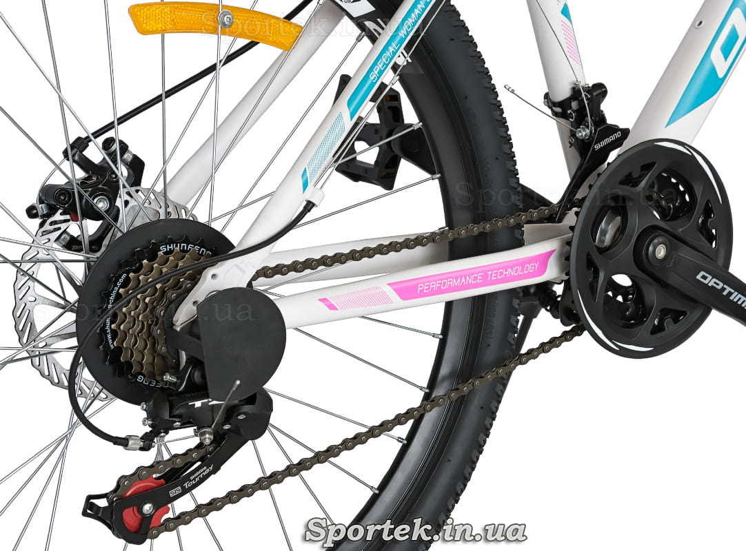 Трансмиссия горного женского велосипеда Optimabikes Alpina DD