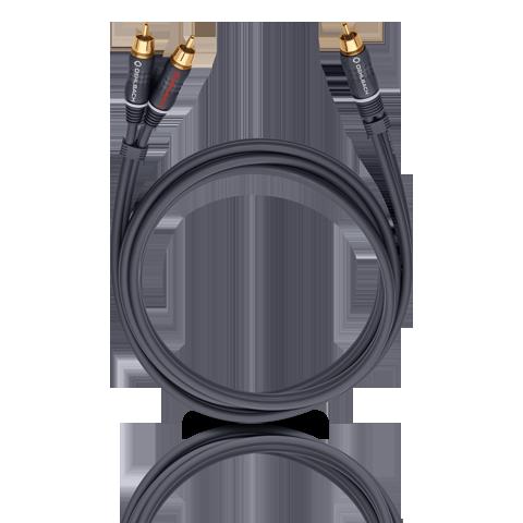 Oehlbach BOOOM! Y-adapter cable, anthracite 2.0m, кабель сабвуферный (#23702)