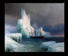 """Репродукция """"Айвазовский - Ледяные горы в Антарктиде"""""""