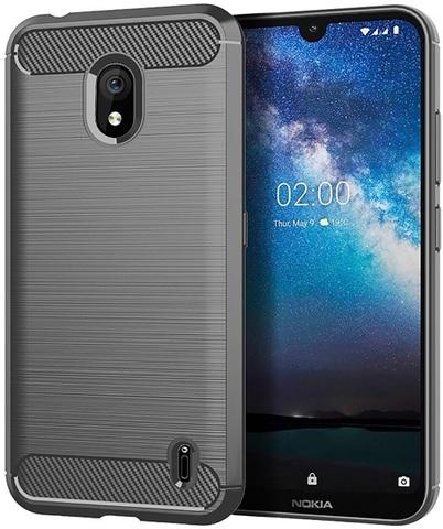 Чехол на Nokia 2.2 цвет Gray (серый), серия Carbon от Caseport