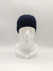 Мужская трикотажная шапка по голове, классика, синяя