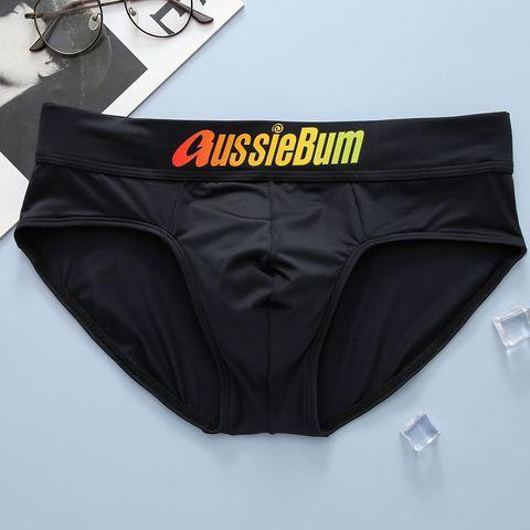 Трусы мужские плавки брифы черные AussieBum