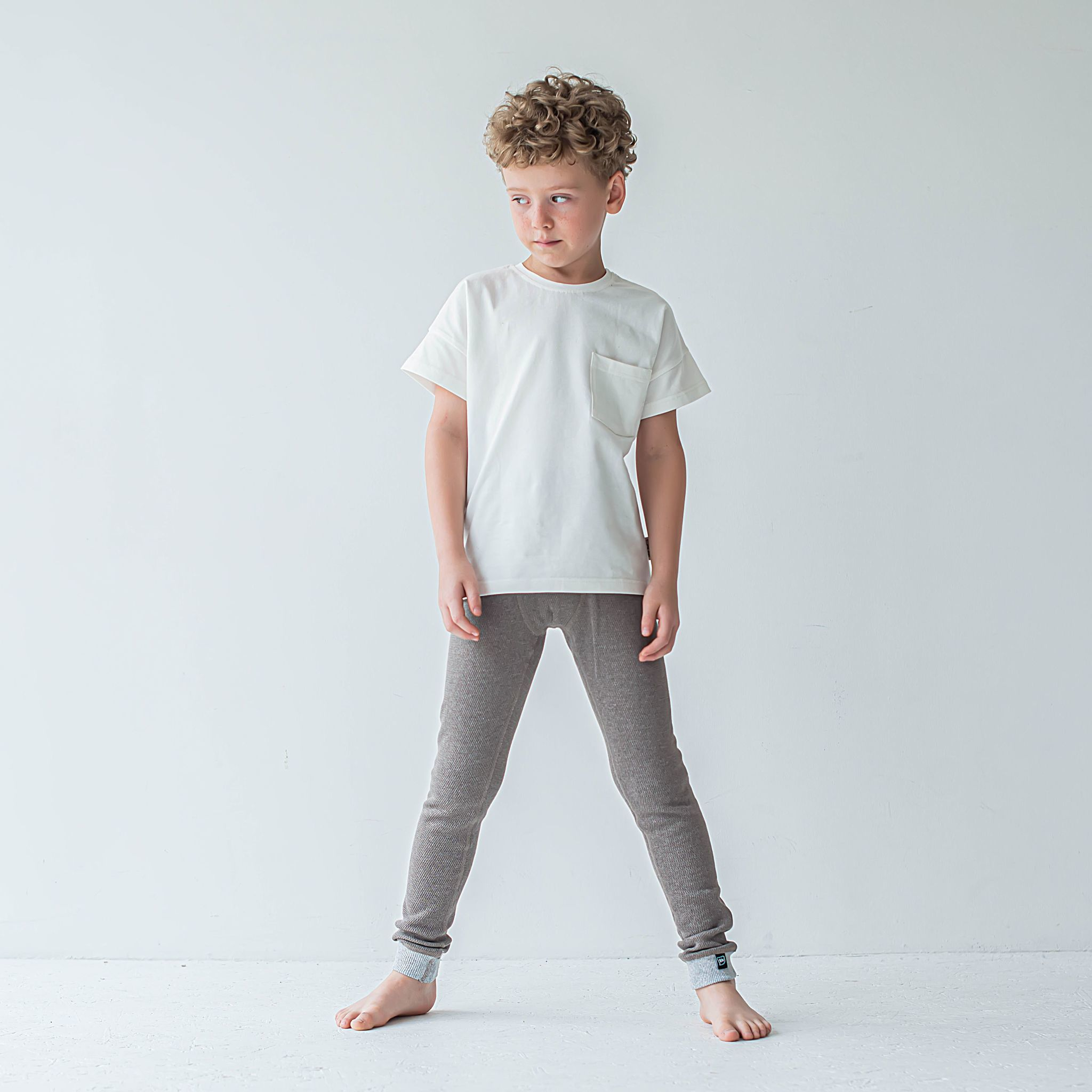 Thermal leggings for teens - Cocoa