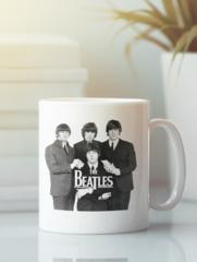 Кружка с изображением Битлз (The Beatles) белая 001
