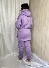 Нора. Теплий костюм з трьохнитки великих розмірів. Лаванда