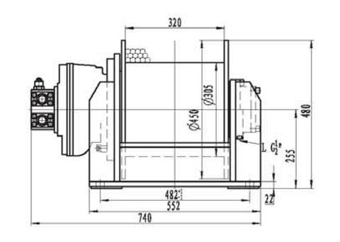 Лебедка свободного сброса IYJ3-40-64-16-L-ZPH3