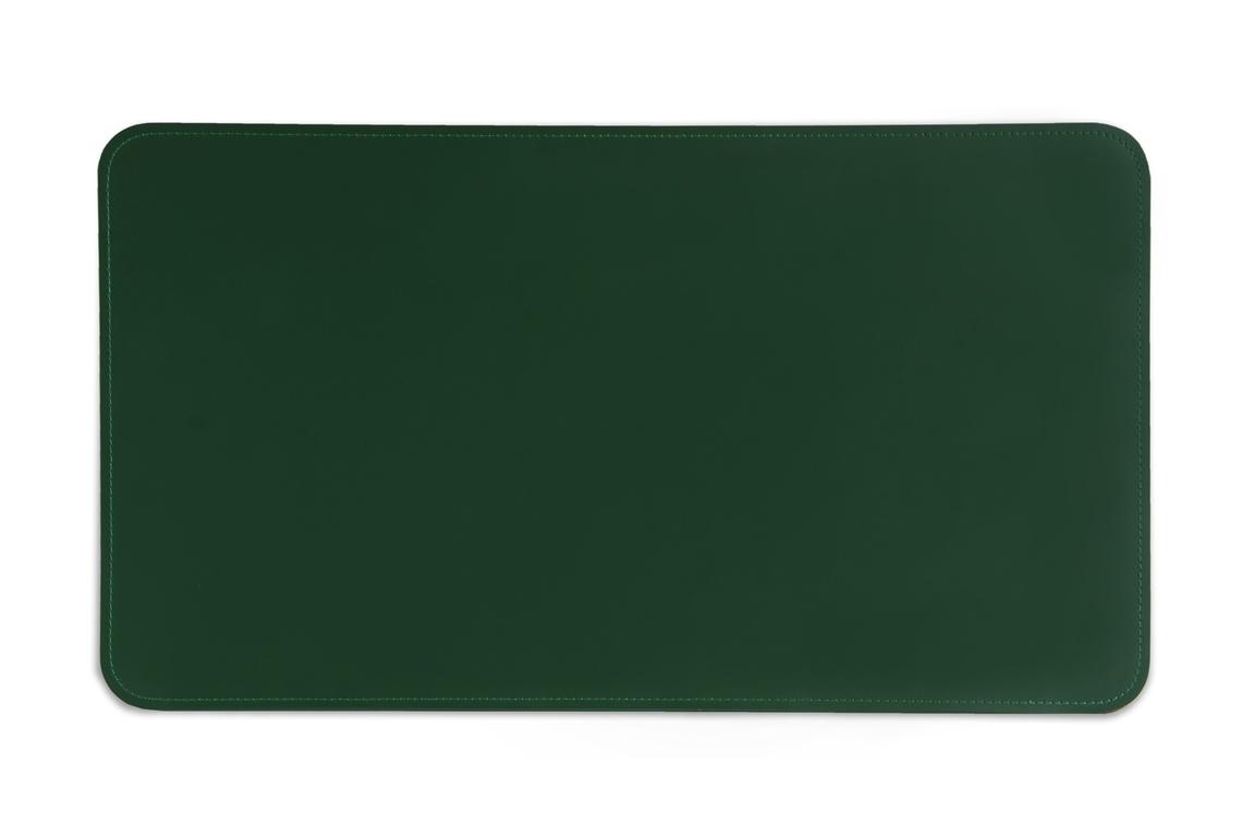 зеленый бювар из кожи на стол
