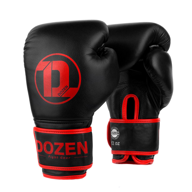 Боксёрские перчатки Dozen Monochrome Black/Red главный вид