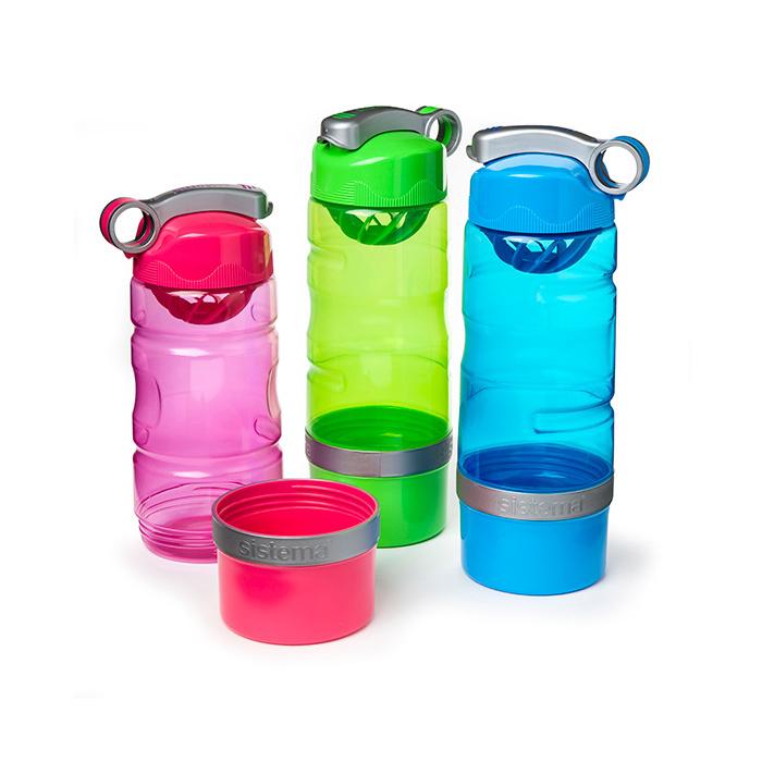 """Бутылка для воды Sistema """"Hydrate"""" 615 мл, цвет Черный"""