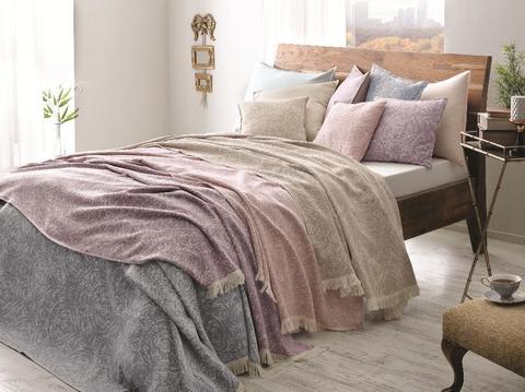 Покрывало махровое пике 2-спальное Tivolyo home MARONE 220х220 см фиолетовое