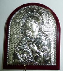 Серебряная икона Божией Матери Владимирская 8,5х7см