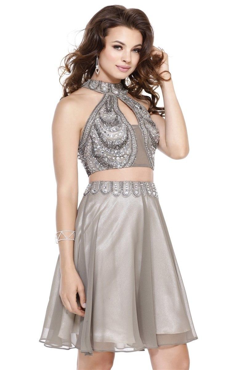 Комплект топ и юбка в цвете Grey
