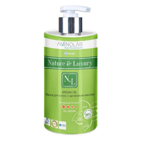 Маска для волос с аргановым маслом, Nature & Luxury,460 мл.