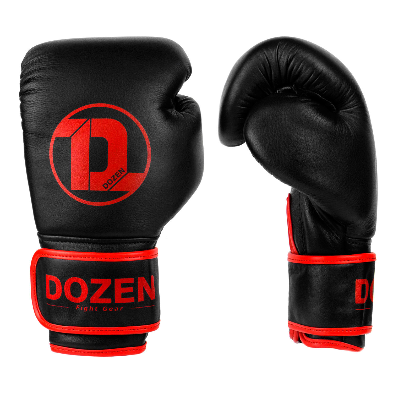 Боксёрские перчатки Dozen Monochrome Black/Red сбоку