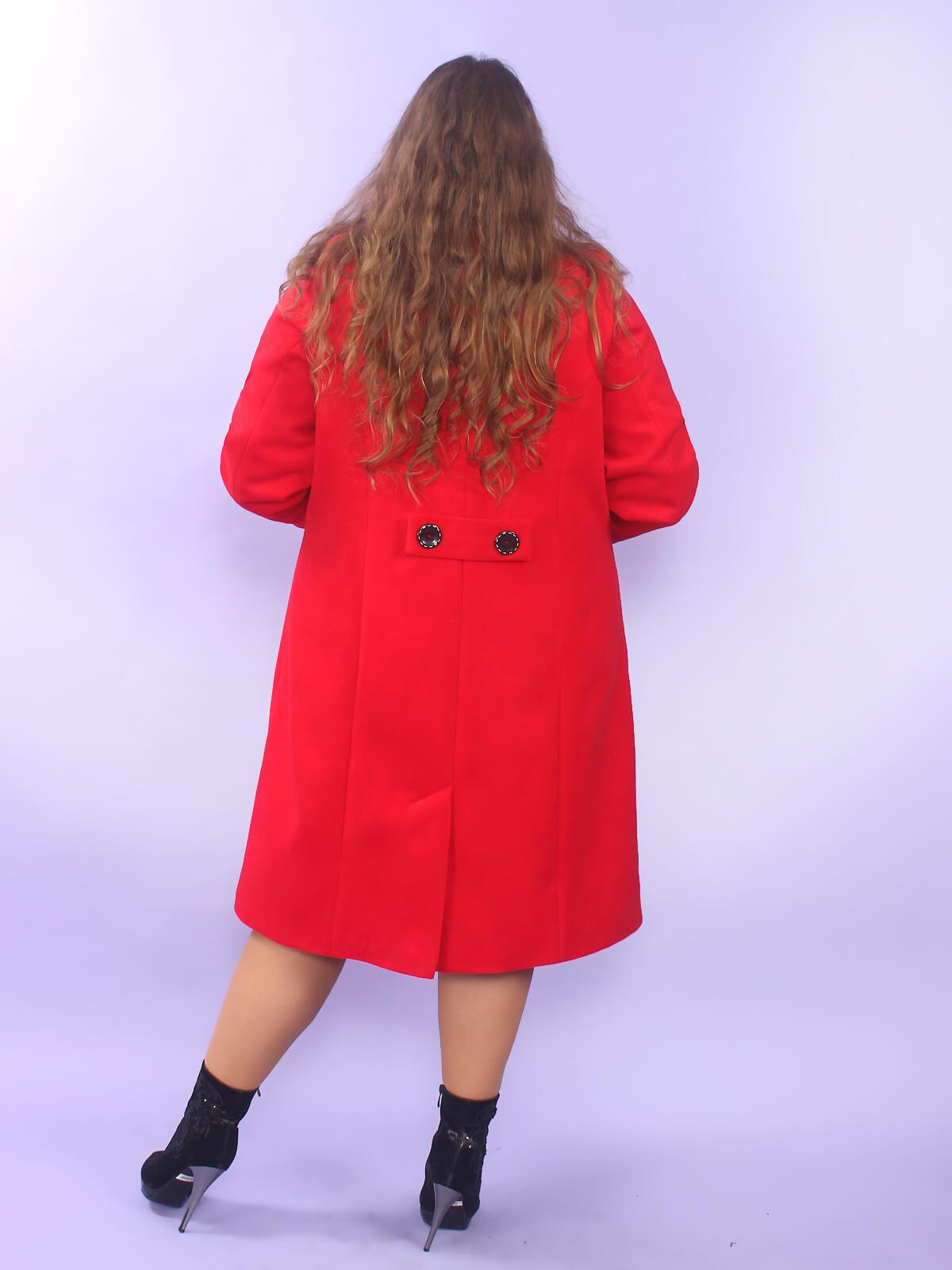 Пальто Лестер красное