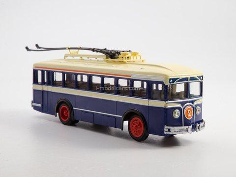 LK-1 first Soviet trolleybus blue-beige 1:43 Modimio Our Buses #24