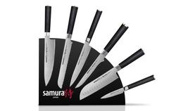Набор из 6-ти кухонных ножей Samura MO-V и магнитной подставки, арт. SKM-007/G10