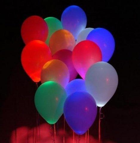 Светящиеся воздушные шары ассорти