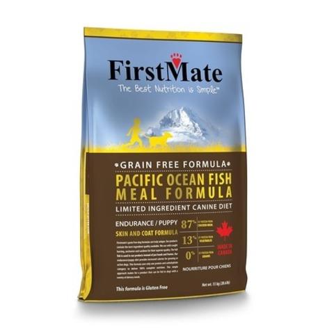 FirstMate Pacific Ocean Fish Meal Endurance/Puppy сухой беззерновой корм для щенков и взрослых собак с высокой активностью с рыбой 20 кг.