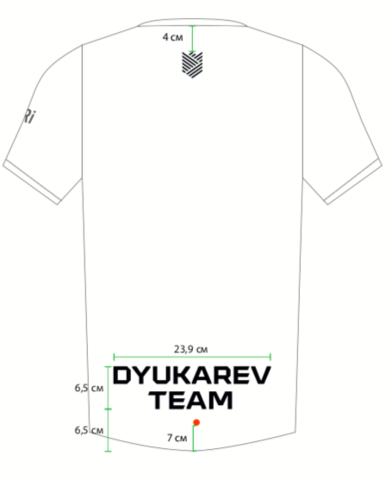 Футболка клубная GRi Dyukaev team, eng, женская