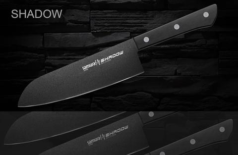 Набор из 7 кухонных стальных ножей Samura Shadow