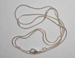 Цепочка с серебряным покрытием, 55см