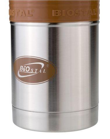 Термос Biostal Flër (0,5 литра) с силиконовой вставкой, мокко