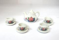 Чайный набор МИНИАТЮРА для кукол, 9 предметов, керамический.