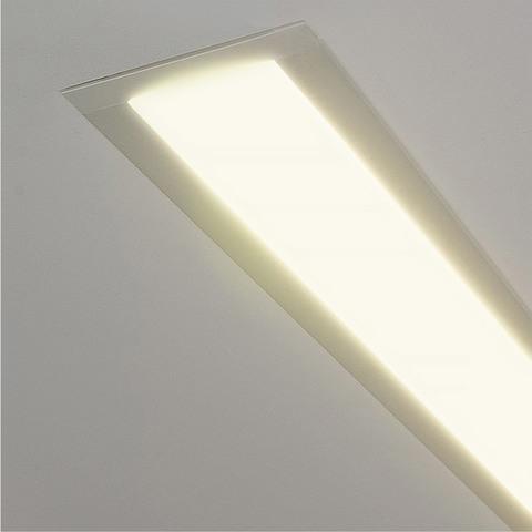 Линейный светодиодный встраиваемый светильник 103см 20Вт 3000К матовое серебро 100-300-103