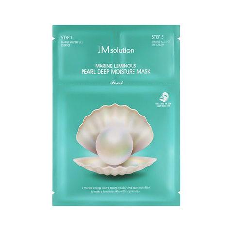 JMsolution Marine Luminous Pearl Deep Moisture Mask  Трехшаговый увлажняющий набор с протеинами жемчуга