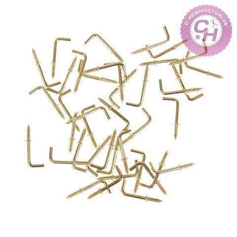 Крючки для ключницы металлические, 2,5*0,5 см, набор 40 шт.