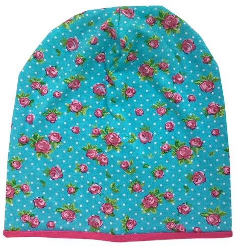 Женская шапочка - бини с розочками