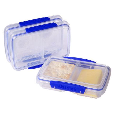 """Набор пищевых контейнеров Sistema """"KLIP IT"""", двойной, 350мл, 3шт."""