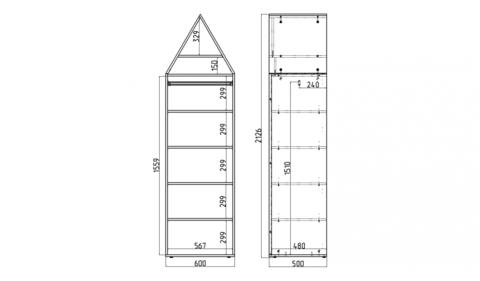 Шкаф-домик XL Амстердам - 9 (Н)