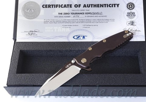 Zero Tolerance 0392BRNGLD Factory Custom