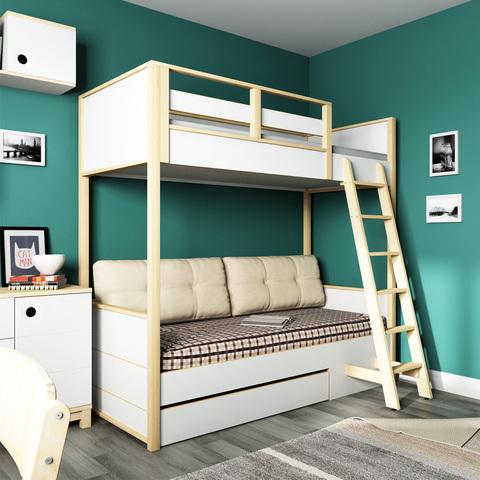 Кровать 2х-ярусная с фальшпанелью 38 попугаев Робин Wood Лайт
