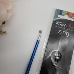Крючок KnitPro Zing № 4,0