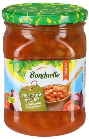 """Фасоль """"Bonduelle"""" печеная с южными томатами 500мл"""