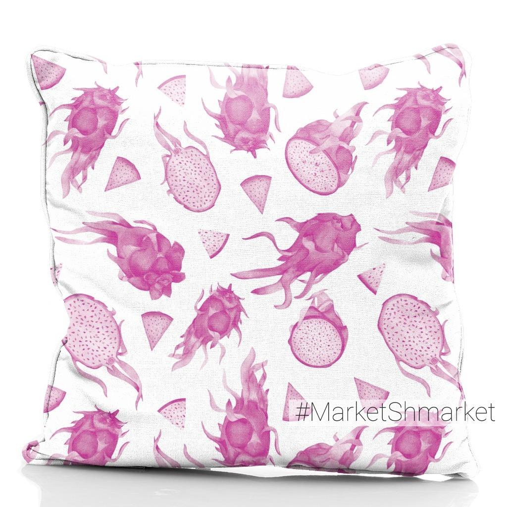 Розовый монохром: драгонфруты акварелью