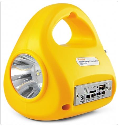 Фонарь Яркий Луч LA-FM аккум.,2 режима (2W/30LED),FM-радио,MP3,USB выход,зарядка 220В