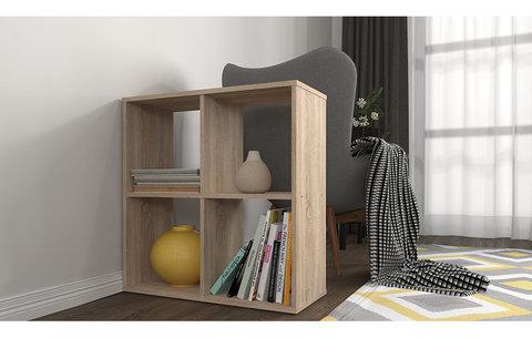 Стеллаж Polini Home Smart Кубический 4 секции, дуб