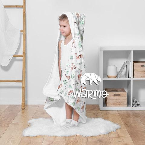 Рушник дитячий банний з капюшоном Warmo™ ОЛЕНІ 100x100см