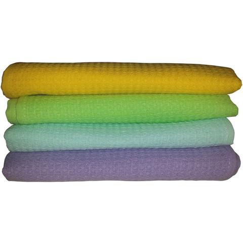 Полотенце вафельное 80х140 плотн.150гр/м2, цветное, 10шт