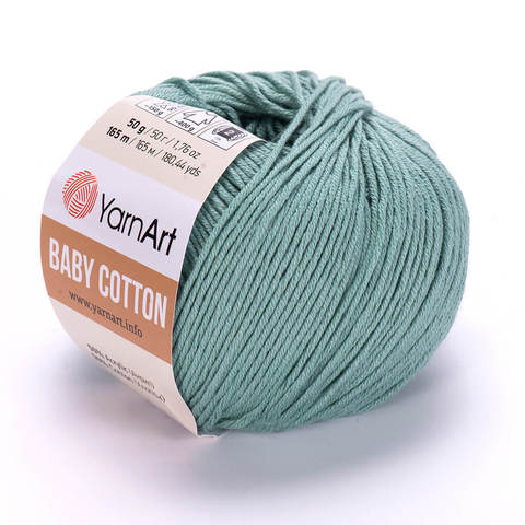 Пряжа Baby Cotton (Бэби Котон) Мятный. Артикул: 439