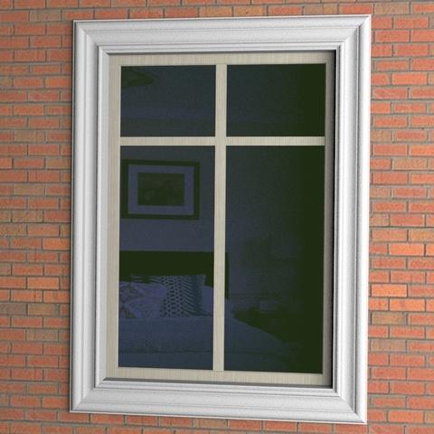 Окно с наличником из пенопласта