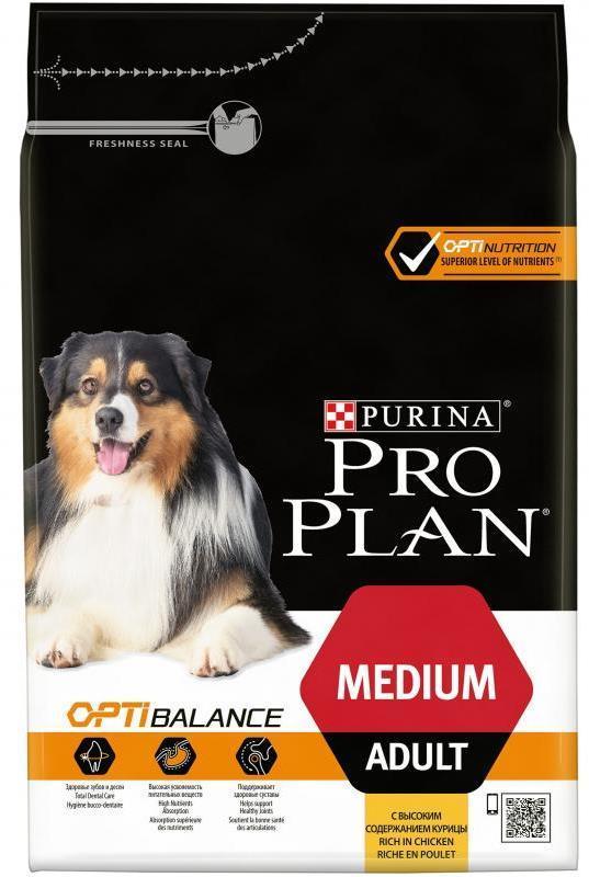 Сухой корм Сухой корм, Purina Pro Plan, для взрослых собак средних пород, с курицей и рисом средних_пород__курица_с_рисом.jpg