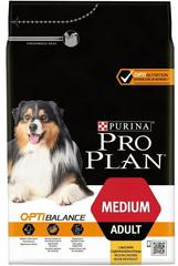 Сухой корм, Purina Pro Plan, для взрослых собак средних пород, с курицей и рисом
