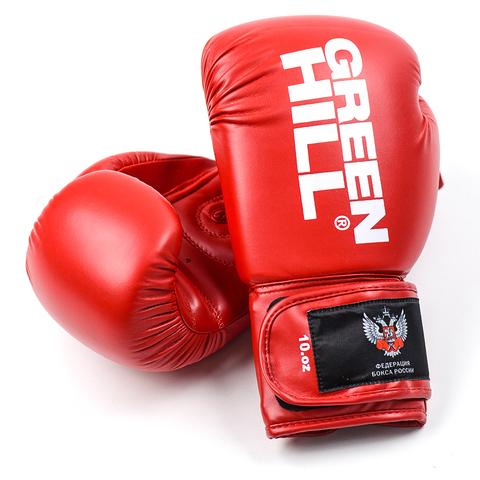 Перчатки боксерские REX BGR-2272,  Green Hill