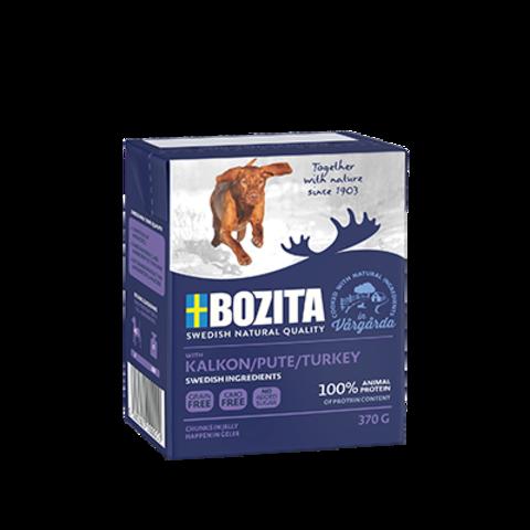 4252 BOZITA Naturals Turkey кон.д/собак Кусочки в желе Индейка 370гр*16